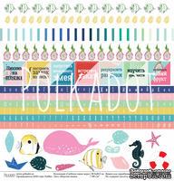 """Лист бумаги для скрапбукинга от Polkadot - """"Морская жизнь"""" из коллекции """"Глубокое синее море"""""""