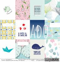 """Лист бумаги для скрапбукинга от Polkadot - """"Карточки"""" из коллекции """"Глубокое синее море"""""""