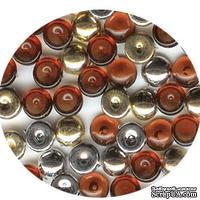 Прозрачные капли и капли металлик The Robin's Nest Dew Drops - Mocha Trail, 6 мм, 250-270 шт
