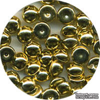 Капли металлик The Robin's Nest Dew Drops - Metallic Gold Bright, 6 мм, 50 шт, цвет яркое золото
