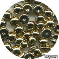 Капли металлик The Robin's Nest Dew Drops - Metallic Gold Bronze, 6 мм, 50 шт, цвет золото-бронза