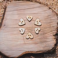 Деревянная вырубка от Вензелик - Набор пуговиц 02,  45x36 мм