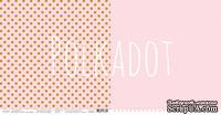 """Лист двусторонней бумаги для скрапбукинга от Polkadot - """"Розовый кварц """" из коллекции """"В горошек"""""""
