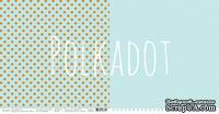 """Лист двусторонней бумаги для скрапбукинга от Polkadot - """"Аквамарин"""" из коллекции """"В горошек"""""""