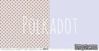 """Лист двусторонней бумаги для скрапбукинга от Polkadot - """"Сирень"""" из коллекции """"В горошек"""""""