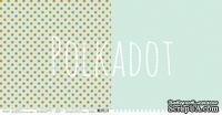 """Лист двусторонней бумаги для скрапбукинга от Polkadot - """"Мятный"""" из коллекции """"В горошек"""""""