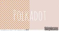 """Лист двусторонней бумаги для скрапбукинга от Polkadot - """"Какао"""" из коллекции """"В горошек"""""""