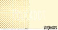 """Лист двусторонней бумаги для скрапбукинга от Polkadot - """"Лимонный"""" из коллекции """"В горошек"""""""