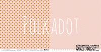 """Лист двусторонней бумаги для скрапбукинга от Polkadot - """"Персик"""" из коллекции """"В горошек"""""""