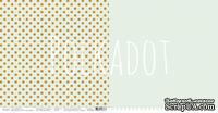 """Лист двусторонней бумаги для скрапбукинга от Polkadot - """"Фисташковый"""" из коллекции """"В горошек"""""""