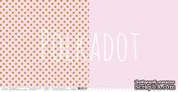 """Лист двусторонней бумаги для скрапбукинга от Polkadot - """"Пион"""" из коллекции """"В горошек"""""""