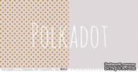 """Лист двусторонней бумаги для скрапбукинга от Polkadot - """"Французский серый"""" из коллекции """"В горошек"""""""