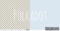 """Лист двусторонней бумаги для скрапбукинга от Polkadot - """"Небесный"""" из коллекции """"В горошек"""""""