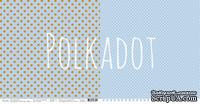 """Лист двусторонней бумаги для скрапбукинга от Polkadot - """"Сизый"""" из коллекции """"В горошек"""""""