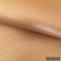 Экокожа, цвет золотой, толщина 0.7 мм, 55Х75 см