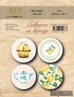 """Набор фишек от EcoPaper """"Завтрак на веранде"""" (Лимоны)"""
