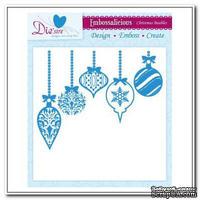 Папка для тиснения и эмбоссинга Darice - Embossalicious Embossing Folder - Christmas Baubles, 20x20 см