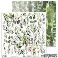 "Лист скрапбумаги от ABstudio - elements ""Leafy paradise"" 30х30см"