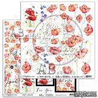 """Лист скрапбумаги от ABstudio - elements """"Magic Poppies"""""""