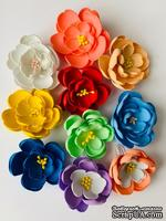 Фиалка, цветок ручной работы из фоамирана,  диаметр 5 см, цвет на выбор, 1 шт.