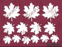 Чипборд от Вензелик - Набор кленовых листьев, размер: 200x150 мм