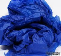 Папиросная бумага тишью 50х66 см  (слож.25 х 16,5см), цвет: синий электрик, 10 листов