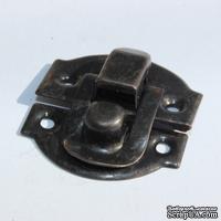 Замочек металлический, цвет черный антик, 27х29мм, 2 детали