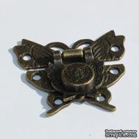Замочек-бабочка металлический, 52х45мм, 2 детали