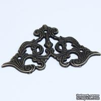 Уголок декоративный металлическй, 62х34мм, 1 деталь