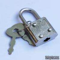 Замочек с ключиками для шкатулок, 30x17мм, 2 детали