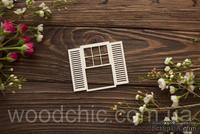 Чипборд Окно со ставнями 1 от WOODchic, 7х8см