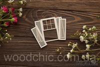Чипборд Окно со ставнями + ставни 1 от WOODchic, 7х8см