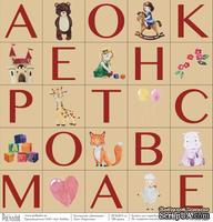 """Лист бумаги для скрапбукинга от Polkadot - """"Карточки"""" из коллекции """"Девчонки"""""""