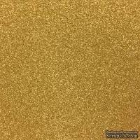 """Глиттерный лист от American Crafts POW Glitter Paper 12""""X12"""", 30,5x30,5 см, золотой, AM714-17"""