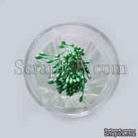 Перламутровые тычинки, цвет зеленый светлый, 25 веточек (50 тычинок)