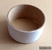 Бобинка из-под скотча - заготовка для шкатулочки, диаметр 8,2 см, высота 40 мм