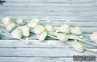Веточка c сердечками в сахарной обсыпке с глиттером, 38 см