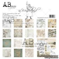 "Набор бумаги от ABstudio - ""In Wonderland"" - Paper set 8x 30х30см + bonus"