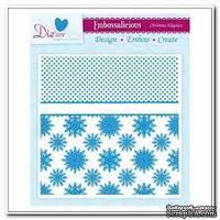 Папка для тиснения и эмбоссинга Darice - Embossalicious Embossing Folder - Christmas Elegance, 15x15 см