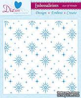 Папка для тиснения и эмбоссинга Darice - Embossalicious Embossing Folder - Star of Wonder, 20x20 см