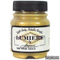 Акриловая краска Jacquard® Lumiere® Metallic Acrylic Paint - True Gold - 70 мл, цвет золотой