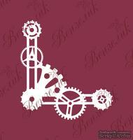 Чипборд от Вензелик - Уголок Стимпанк 02, размер: 60x56 мм