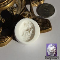 Силиконовая форма (молд) - Камея, размер: 30х22мм