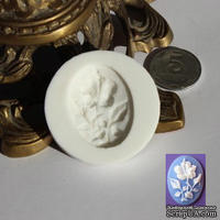 Силиконовая форма (молд) - Камея, размер: 30х40 мм