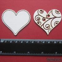 Чипборд от Вензелик - Сердечки, размер чипборда: 48*52 мм