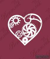 Чипборд от Вензелик - Сердце Стимпанк, размер: 63x68 мм