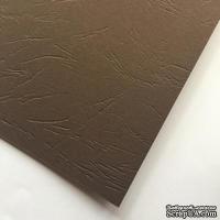 Картон с тиснением под кожу, цвет коричневый, 300гр/м2, 30х30см