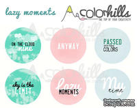 Набор фишек (значков) от Color Hills - Lazy moments, 6 шт, 25 мм