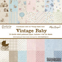 Большой набор бумаги от Maja design - Vintage Baby, 30х30 см