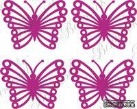 Чипборд от Вензелик - Набор бабочек, размер: 21*28 мм